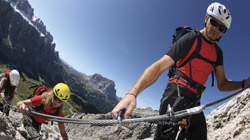 A 'via Ferrata' in the Upper Pustertal valley