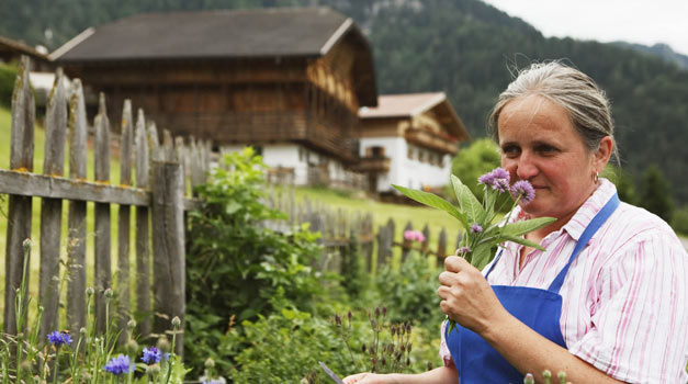 The blue apron in South Tirol