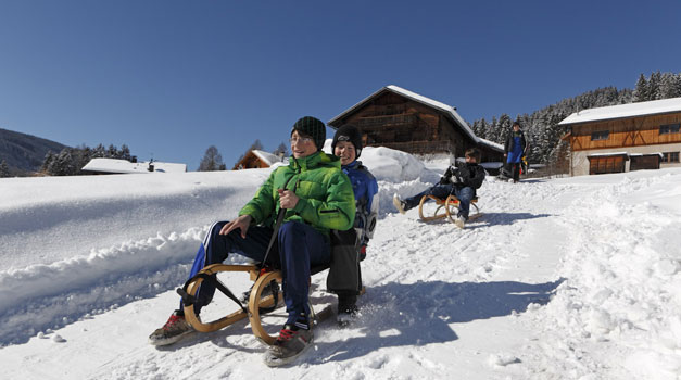 Sledging in South Tyrol