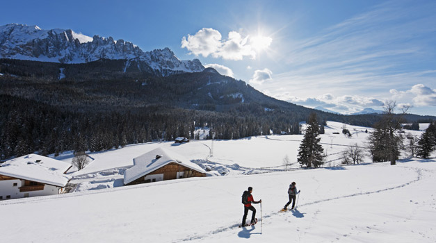 Snow-shoes excursions in South Tirol