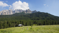 Holiday in June in the Dolomites