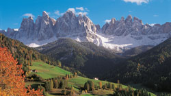 Autumn holiday in the dolomites