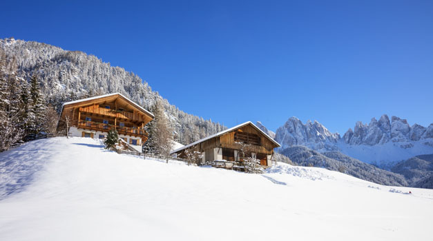 Winter holiday on a farm in the Dolomites