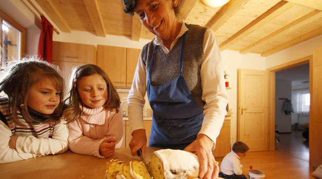 Winter farm holiday in South Tyrol